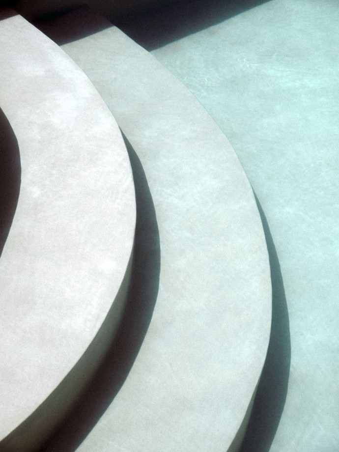Stairs in swimming pool
