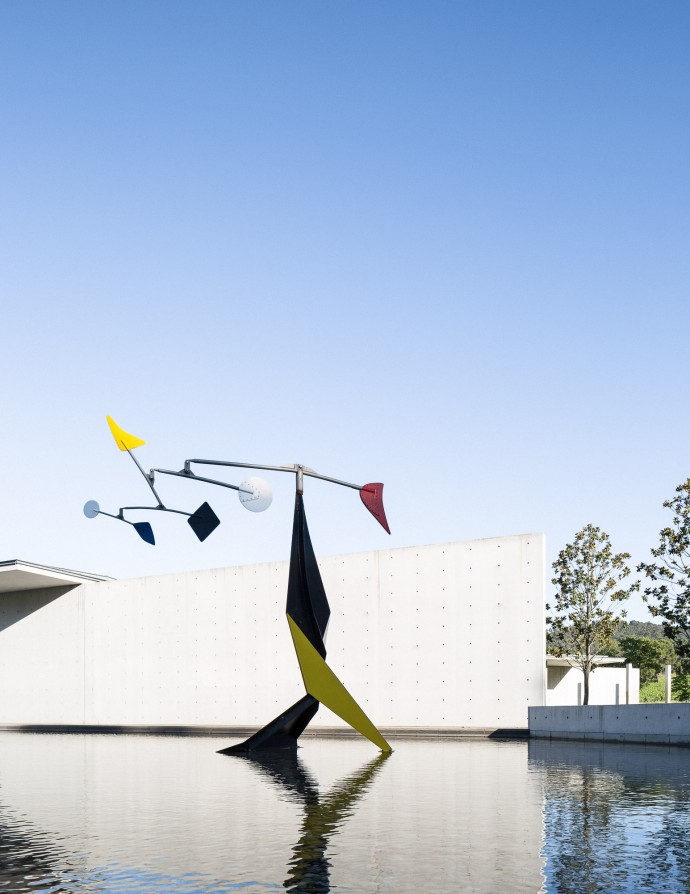 Alexander Calder. Small Crinkly at Chateau La Coste. Tadao Ando Art Centre