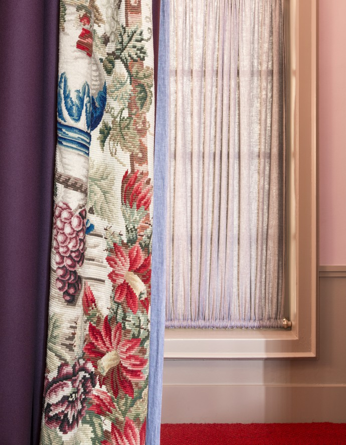 GV Window. Floral Curtain. Photograph by Frederik Vercruysse