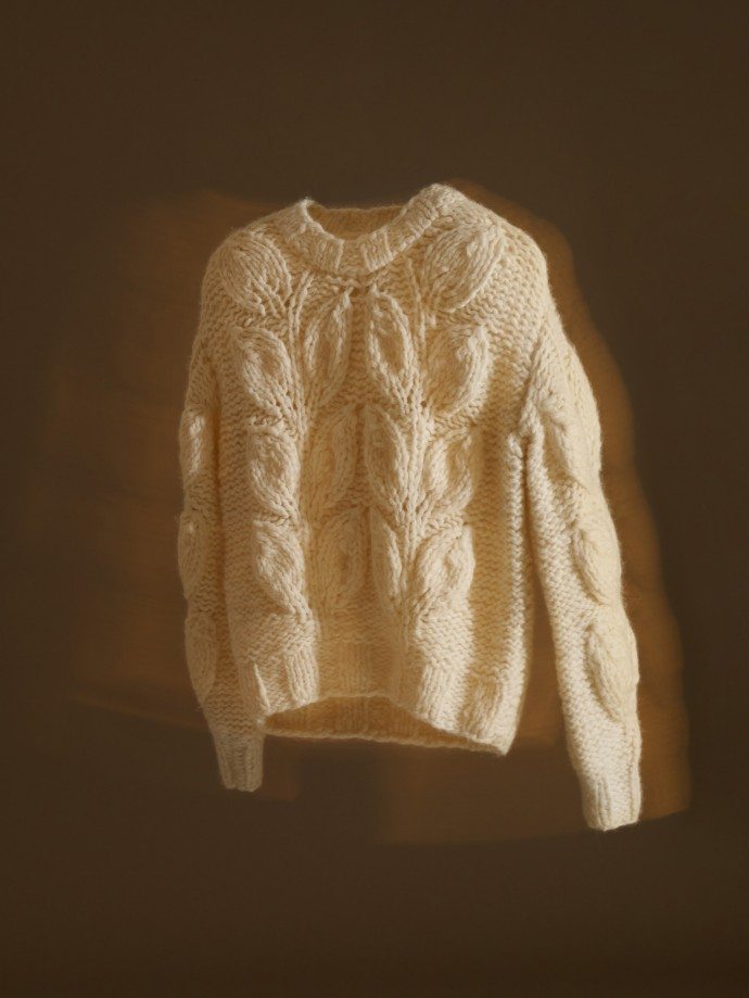 cable knit sweater by maison martin margiela
